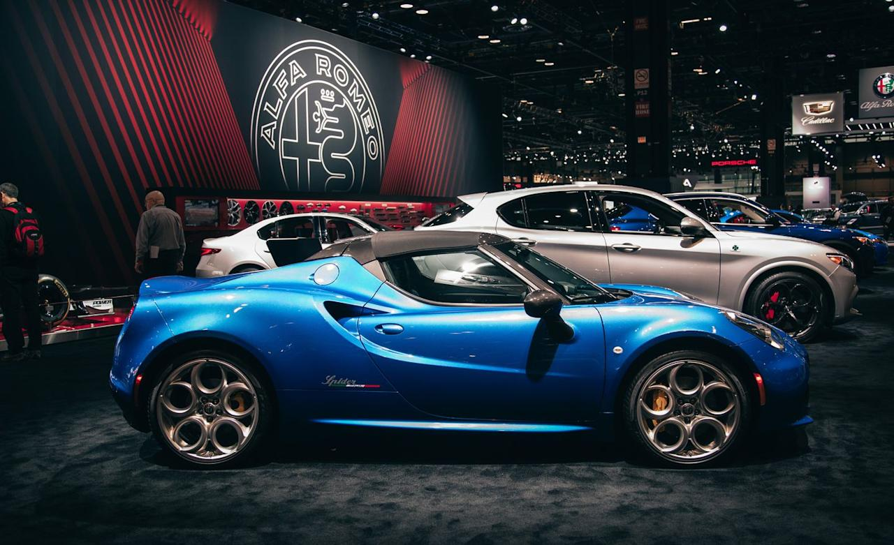 """<p>""""Wow, that paint must be really special,"""" you say. """"Alfa Romeo does call it 'exclusive,' after all."""" Well, not exactly. Misano Blue has been offered on <a rel=""""nofollow"""" href=""""https://www.caranddriver.com/alfa-romeo/giulia"""">the Giulia</a> and <a rel=""""nofollow"""" href=""""https://www.caranddriver.com/alfa-romeo/stelvio"""">the Stelvio</a> for a few years now; it has just never before been offered on the 4C. Now that's exclusivity! </p>"""