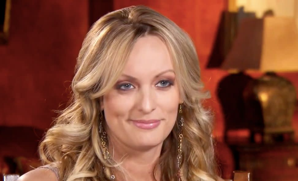 "Stormy Daniels on ""Inside Edition."" (Photo: Inside Edition)"