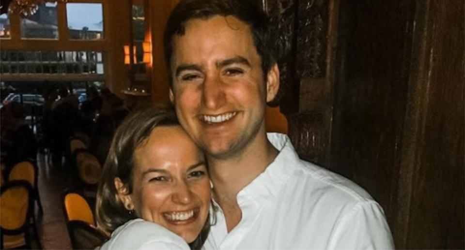 Courtney Haviland pictured with William Shrauner. The doctors died in a Connecticut plane crash.