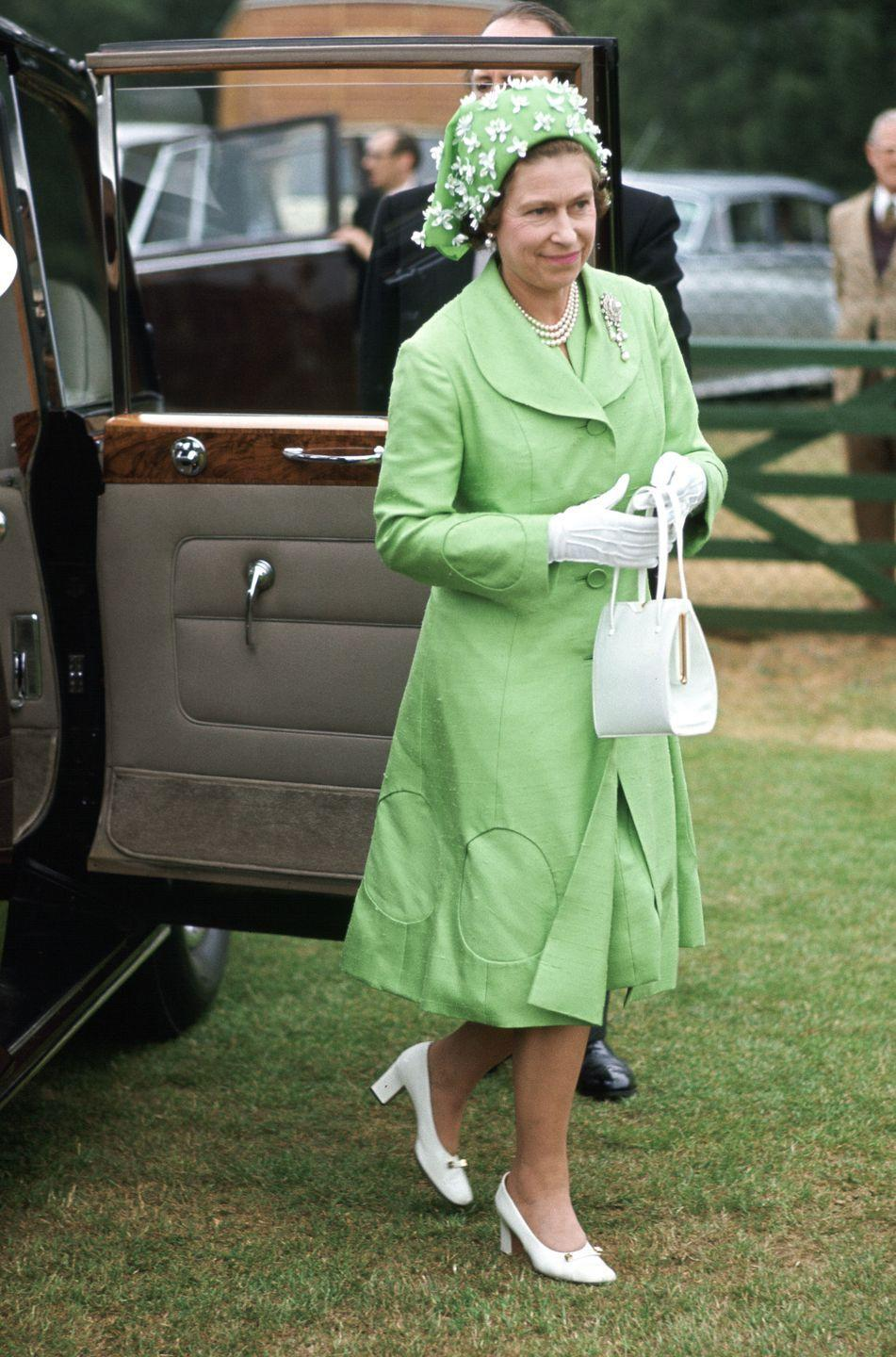 <p>The best royal hats defy explanation. Take this one: is the Queen wearing a handkerchief? a fascinator? a modern take on the medieval cone hat? Regardless, it's a revelation.<br></p>