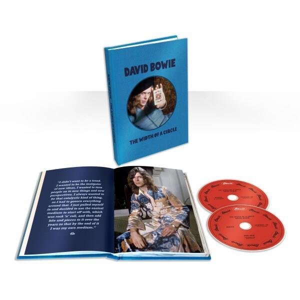 New David Bowie CD release featuring CDs and open book.