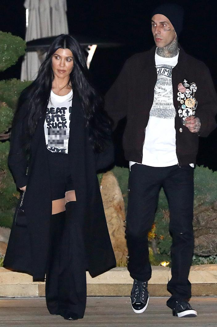 """<p>In March 2021, the pair stepped out in coordinating outfits for a romantic dinner date at <a href=""""https://www.noburestaurants.com/malibu"""" rel=""""nofollow noopener"""" target=""""_blank"""" data-ylk=""""slk:Nobu restaurant"""" class=""""link rapid-noclick-resp"""">Nobu restaurant</a> in Malibu, California.</p>"""