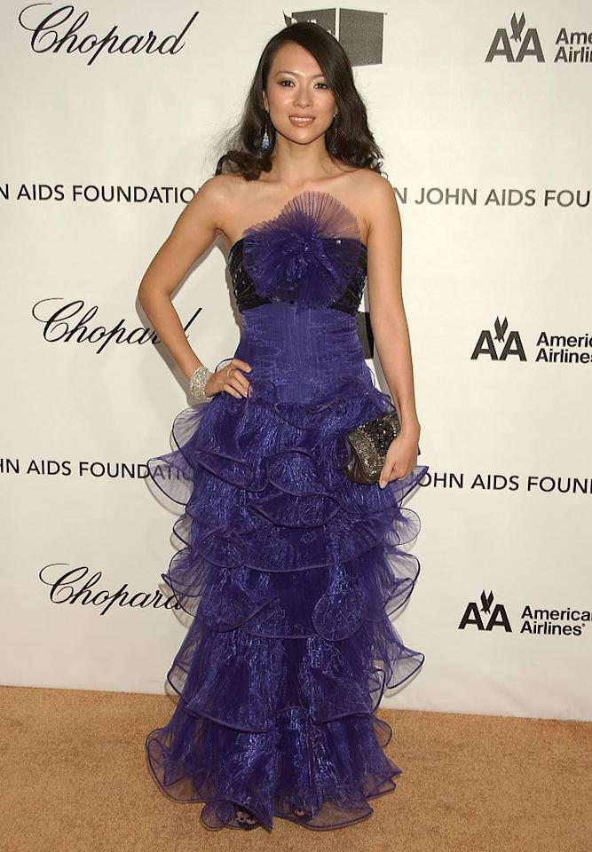"<a href=""http://movies.yahoo.com/movie/contributor/1800424122"">Ziyi Zhang</a> attend the 16th Annual Elton John AIDS Foundation Oscar Party at the Pacific Design Center in West Hollywood - 02/24/2008"