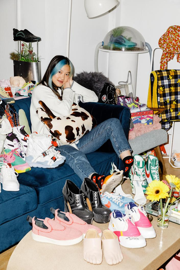 Gia Seo's home is a sneakerhead's wonderland, stocked with an endless supply of standout shoes.