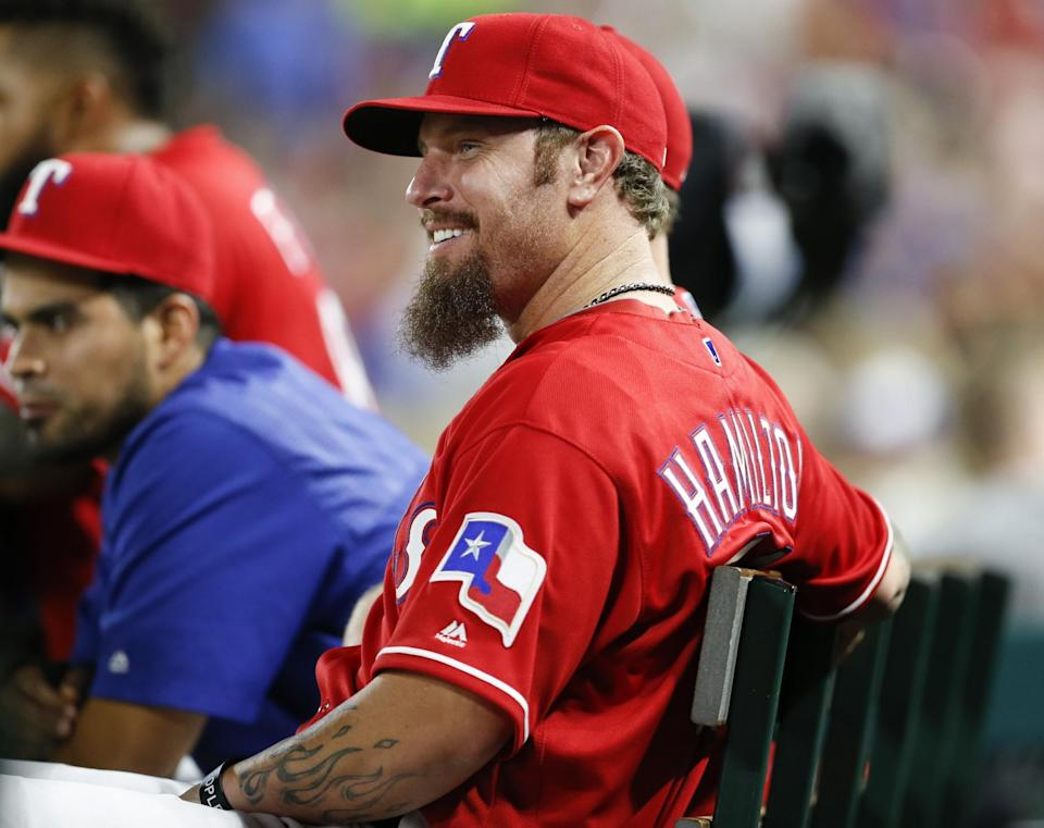 The Rangers released Josh Hamilton on Tuesday but he could be back next season. (AP)