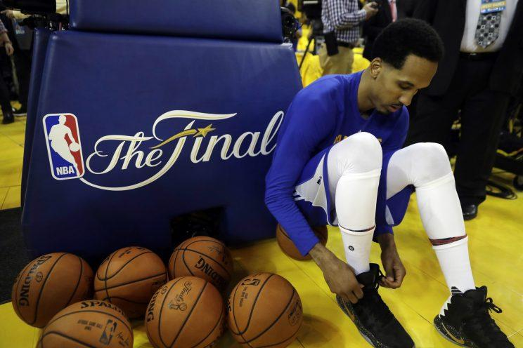 Shaun Livingston was a key reserve on two Warriors title teams. (AP)