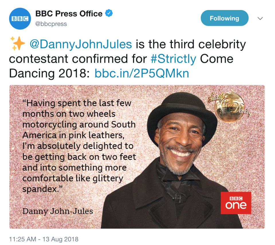 BBC Press Office released the official announcement.