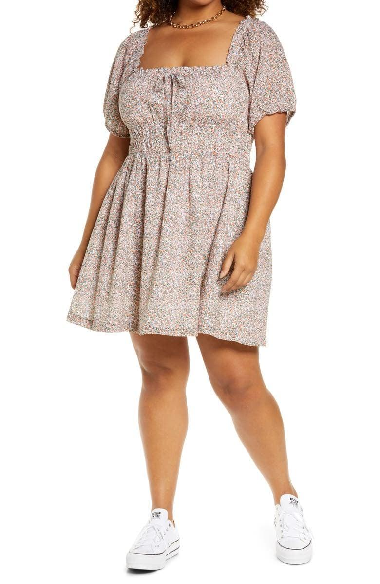 <p>You'll want to wear this <span>BP. Prairie Floral Puff Sleeve Cotton Minidress</span> ($39) all spring and summer.</p>
