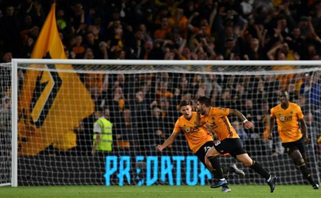 Ruben Neves gave Wolves a draw with a spectacular goal (AFP Photo/Paul ELLIS)