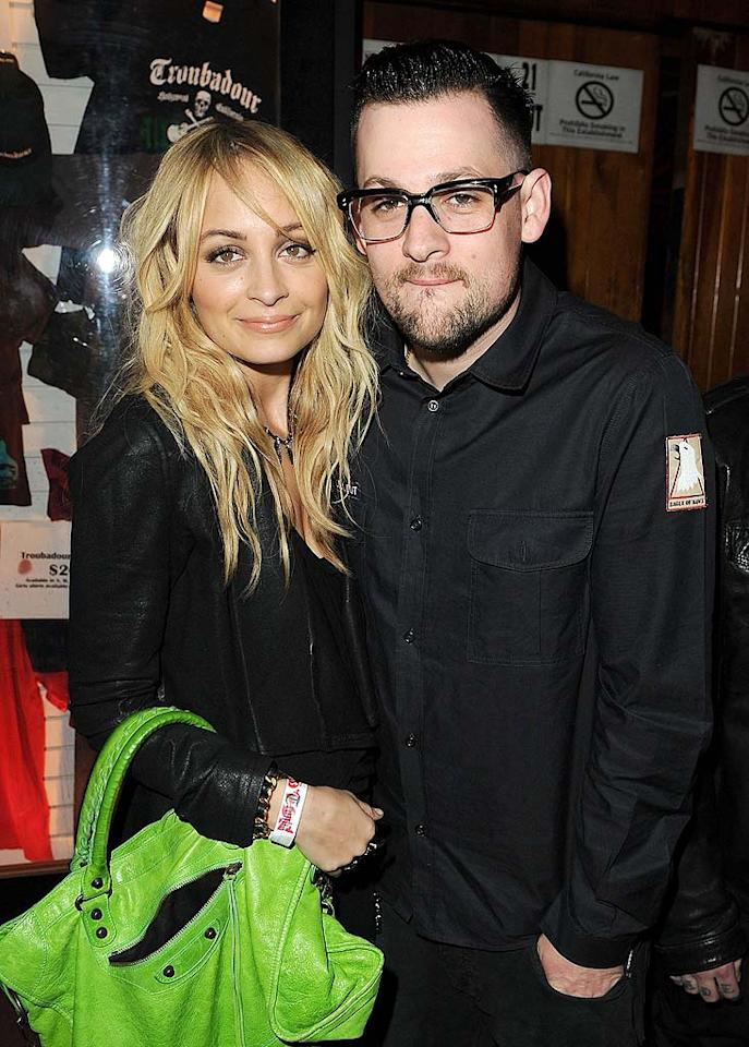 "Nicole Richie and hubby Joel Madden hit up the Vans X Jesse Jo launch party at the Troubadour in West Hollywood on Tuesday night to celebrate Vans' collaboration with 19-year-old musician and designer Jesse Jo Stark. Jason Merritt/<a href=""http://www.wireimage.com"" target=""new"">WireImage.com</a> - March 29, 2011"
