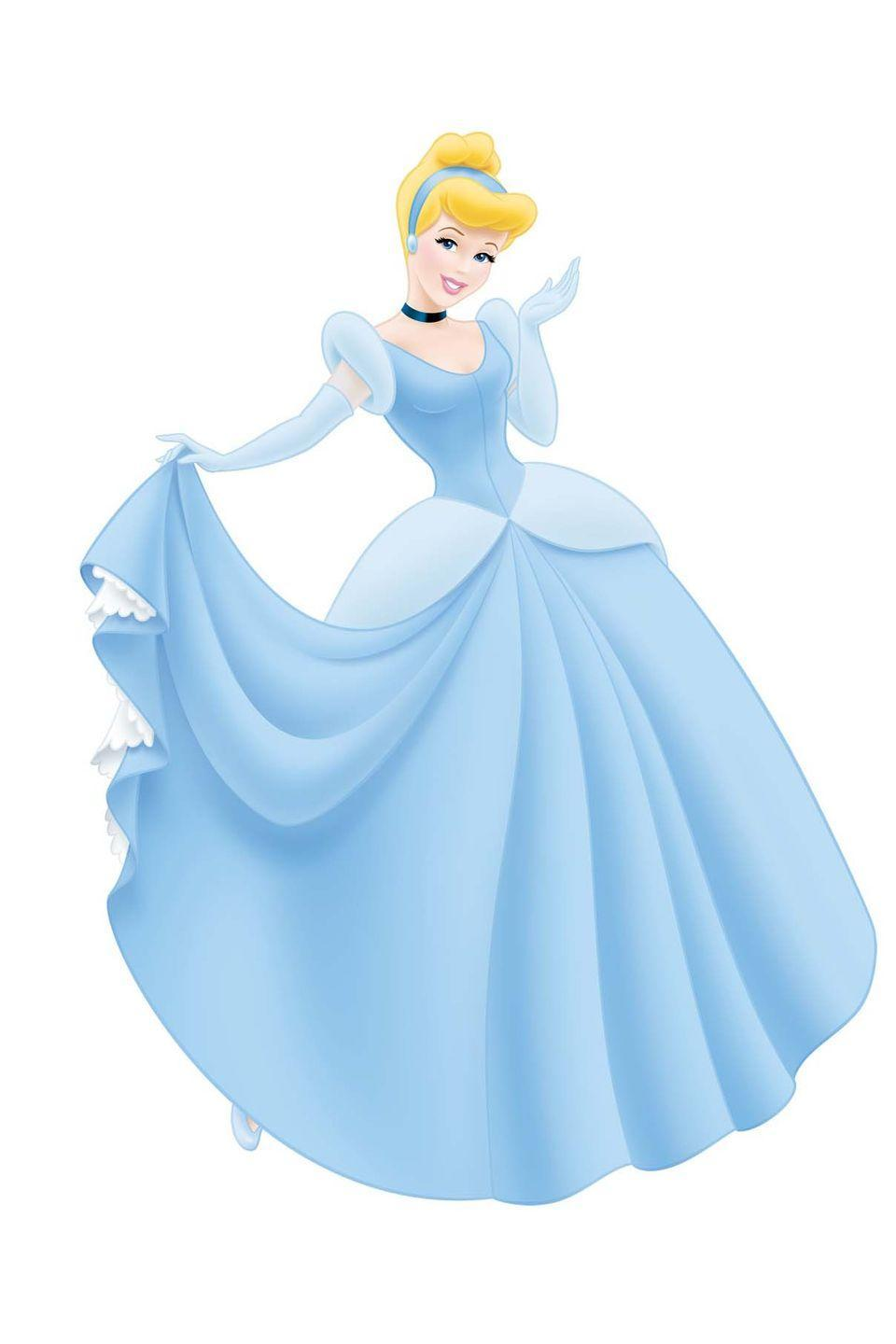 <p>Cinderella made her debut in Disney's 1950 film, wearing a light-blue gown with a full skirt.</p>