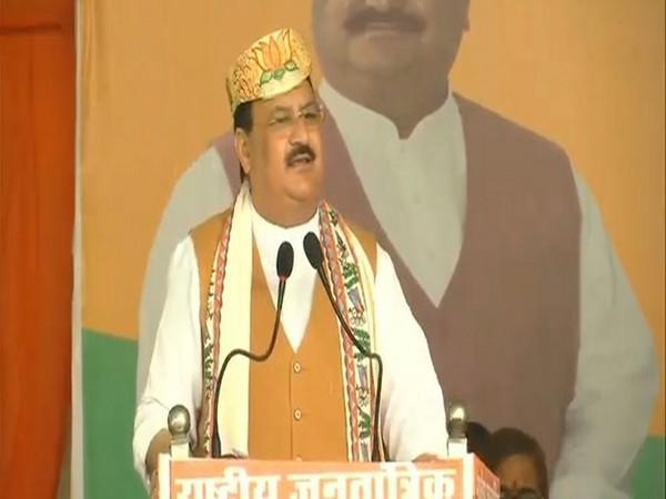 BJP national president Jagat Prakash Nadda speakin in Bihar rally on Thursday. Photo/BJP Live
