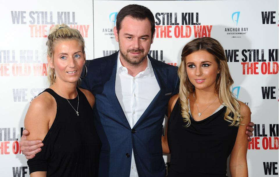 "Joanne Mas, Danny Dyer and Dani Dyer attend a photocall for ""We Still Kill The Old Way"" at Ham Yard Hotel on September 29, 2014 in London, England. (Photo by Stuart C. Wilson/Getty Images)"
