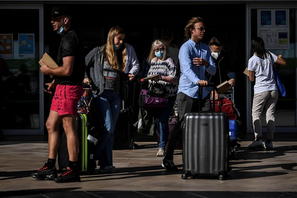 <p>There is no green watch list, just a mad scramble home from Portugal</p> (AFP/Getty)