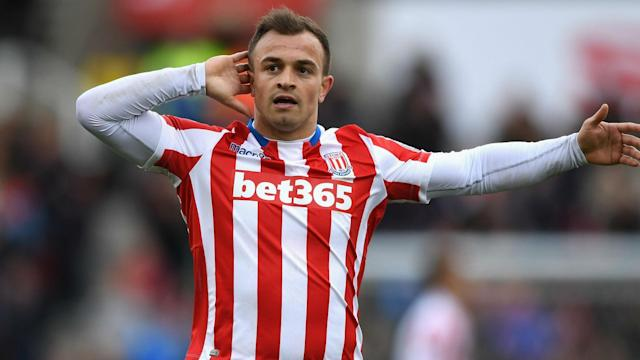 Stoke City star Xherdan Shaqiri has dismissed claims he is keen to leave the club.
