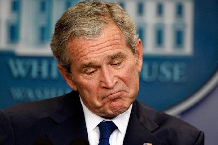 President George W. Bush holds his last news conference in the Brady Press Briefing Room at the White House January 12, 2009 in Washington, DC. (Photo: Chip Somodevilla/Getty Images)