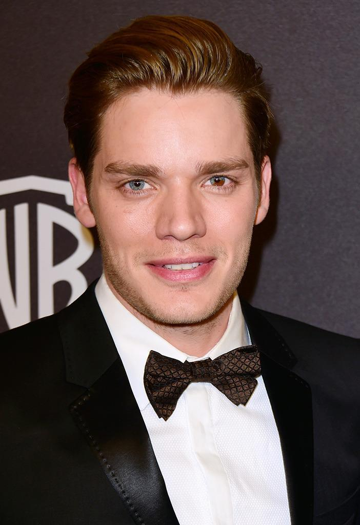 <p>Dominic Sherwood, who stars in the new Freeform show<i> Shadowhunters</i>, has partial heterochromia. One of his eyes is blue, while the other is half blue and half brown. <i>(Photo: Getty Images) <br></i></p>