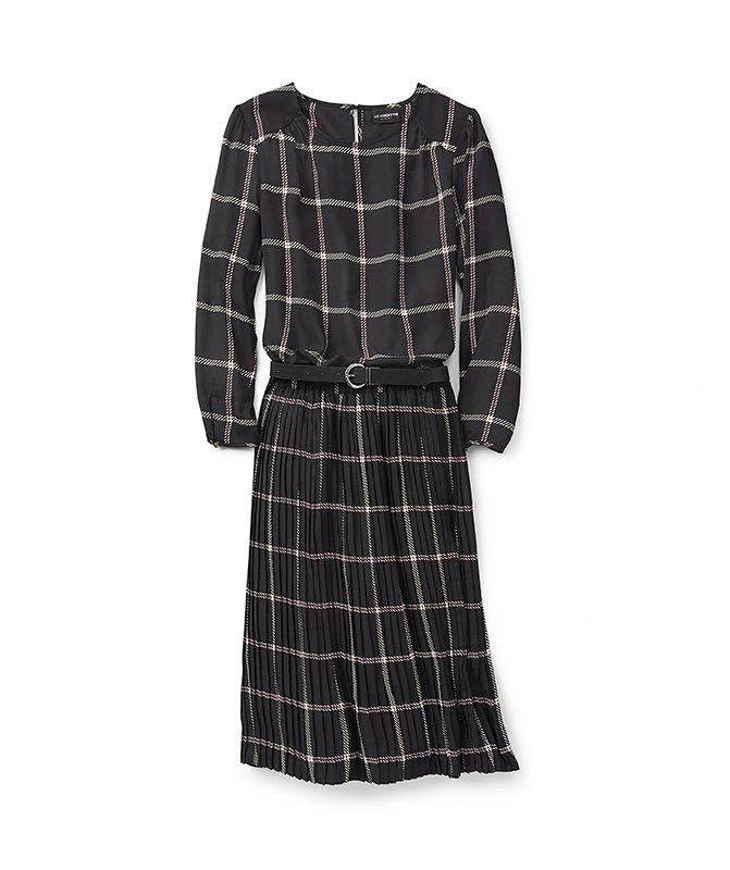 """<p>The office? A party? Weekend brunch? Check, check, and check. With a power set like this in your wardrobe, you'll never be at a loss for what to wear.</p> <p><em>Liz Claiborne Plaid Blouse and Skirt </em> <br /> Our very favorite capsule pieces are those that reduce the process of getting ready down to two simple steps: Pull on this flattering set, pair it with a belt and your favorite heels, and you're done. Even better, wear the pieces as separates to really stretch your wardrobe.<br /><strong>To buy: </strong>Blouse; <a href=""""http://www.anrdoezrs.net/links/7876406/type/dlg/sid/RS%2CThisFallCapsuleWardrobeMakesGettingDressedWayEasier%2Cnorlingh%2CCLO%2CGAL%2C548989%2C201909%2CI/http://www.jcpenney.com/p/liz-claiborne-womens-round-neck-long-sleeve-blouse/ppr5007852697"""" target=""""_blank"""">jcpenney.com</a>.<br /> Plaid skirt; <a href=""""http://www.anrdoezrs.net/links/7876406/type/dlg/sid/RS%2CThisFallCapsuleWardrobeMakesGettingDressedWayEasier%2Cnorlingh%2CCLO%2CGAL%2C548989%2C201909%2CI/http://www.jcpenney.com/p/liz-claiborne-womens-midi-pleated-skirt/ppr5007853355"""" target=""""_blank"""">jcpenney.com</a>.</p> <p><em>DVF Astrid Cashmere Wrap Dress</em><strong> </strong><br /> Your little black dress will soon become your little navy dress when you invest in this wear-anywhere wardrobe staple. You'll find yourself reaching for this dress for meetings, presentations, or any time you need to feel your best.<br /><strong>To buy: </strong>$448; <a href=""""https://www.pntra.com/t/8-8896-131940-82634?sid=RS%2CThisFallCapsuleWardrobeMakesGettingDressedWayEasier%2Cnorlingh%2CCLO%2CGAL%2C548989%2C201909%2CI&url=http%3A%2F%2Fwww.dvf.com%2Fastrid-cashmere-wrap-dress%2F13334DVF.html"""" target=""""_blank"""">dvf.com</a>.</p> <p><em>Ted Baker PENALO Twist Detail Dress</em><br /> Sometimes you need those items of clothing that are complete confidence-boosters, and this dress with a (literal) twist is bound to be one of them. The cut is figure-flattering, while long sleeves and a slit play off each ot"""