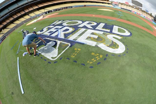 """The Dodgers prepare for the 2017 World Series at Dodger Stadium. <span class=""""copyright"""">(Jill Weisleder/ L.A. Dodgers)</span>"""