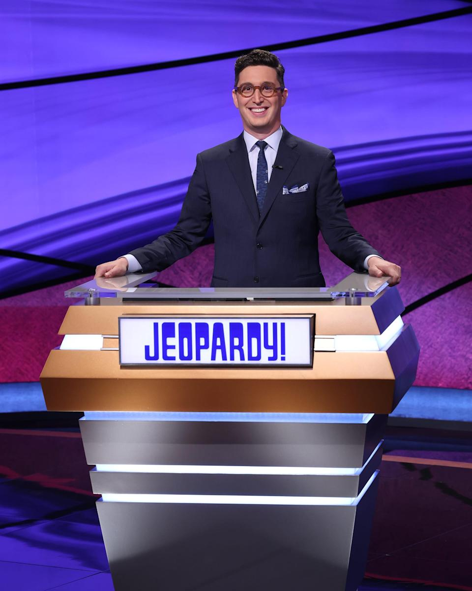 """Former """"Jeopardy!"""" champion himself, Buzzy Cohen took a turn as guest-host of the quiz show for the 2021 Tournament of Champions."""