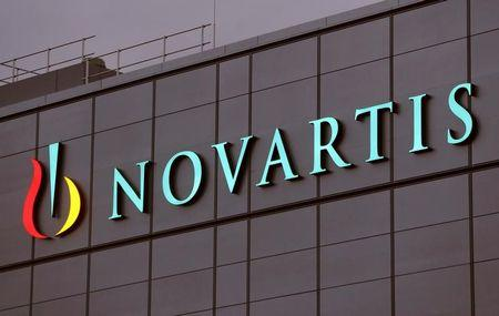 Swiss drugmaker Novartis' logo is seen at the company's plant in the northern Swiss town of Stein, Switzerland October 23, 2017.   REUTERS/Arnd Wiegmann