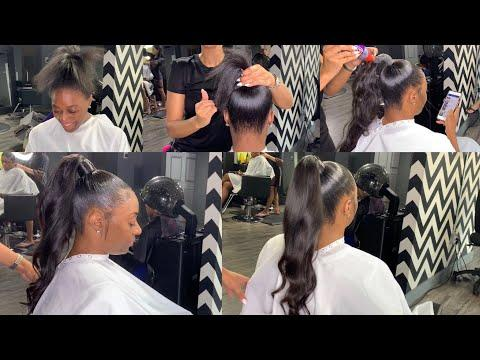"<p>Reach new ponytail heights with this detailed tutorial. Getting the height and length for a fountain pony calls for extensions, which can be tricky to use. Luckily, this video shows exactly how to add bundles seamlessly.</p><p><a href=""https://www.youtube.com/watch?v=qz80e_WLqi8"">See the original post on Youtube</a></p>"