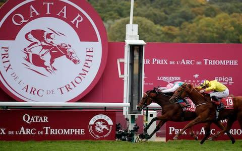 <span>Enable wins her second Arc after a season of injury</span> <span>Credit: AP Photo/Francois Mori </span>