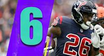 <p>Lamar Miller is having a renaissance season. He has gone from 3.7 yards last season to 5.0 this year. Miller has 100 yards in four of the Texans' last six games, and an 86-yard game too. (Lamar Miller) </p>