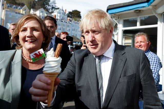 The Prime Minister returned to the campaign trail in Llandudno ahead of Senedd elections (Phil Noble/PA)