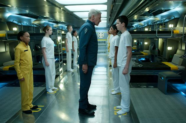 Harrison Ford and Asa Butterfield in 'Ender's Game'