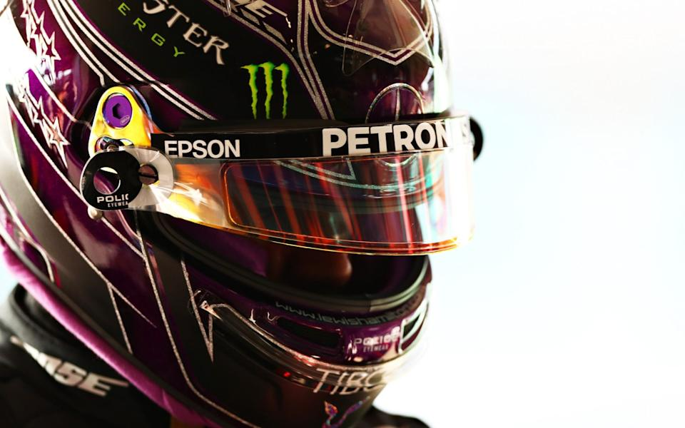 Pole position qualifier Lewis Hamilton of Great Britain and Mercedes GP looks on in parc ferme during qualifying ahead of the F1 Grand Prix of Portugal at Autodromo Internacional do Algarve on October 24, 2020 in Portimao, Portugal. - Dan Istitene - Formula 1