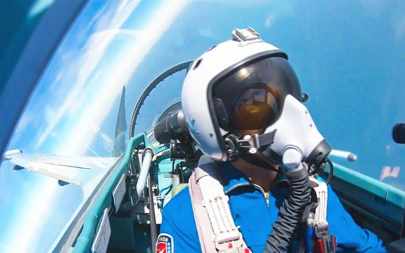 The Chinese air force conducts drills in South China Sea - Barcroft Media