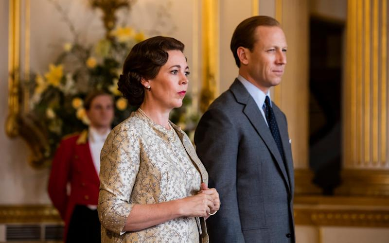 Olivia Colman as the Queen and Tobias Menzies as Prince Philip in series 3 of The Crown - Netflix