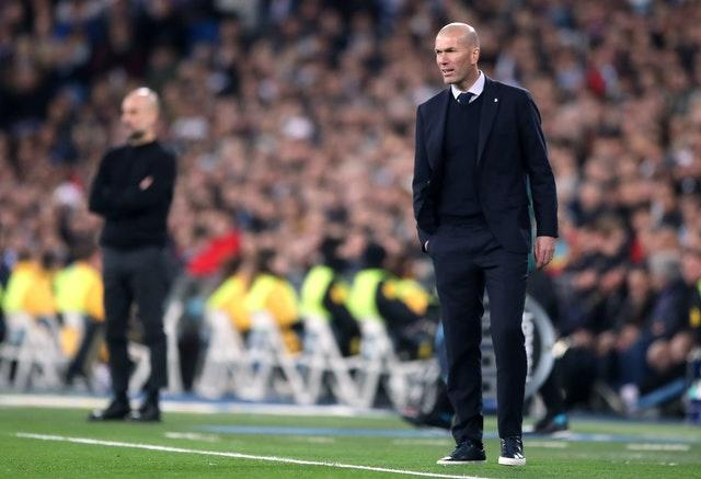 Pep Guardiola (left) and Zinedine Zidane (right) have won five Champions Leagues between them as managers