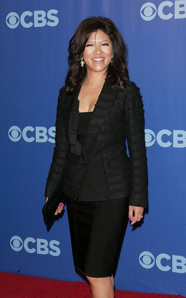 "<a href=""/julie-chen/contributor/260187"">Julie Chen</a> (""Big Brother"") attends the 2010 CBS Upfront at The Tent at Lincoln Center on May 19, 2010 in New York City."