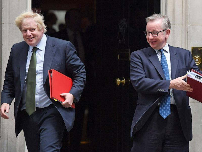 Boris Johnson and Michael Gove are believed to have been critical of Mr Hammond's approach to Brexit (Getty)
