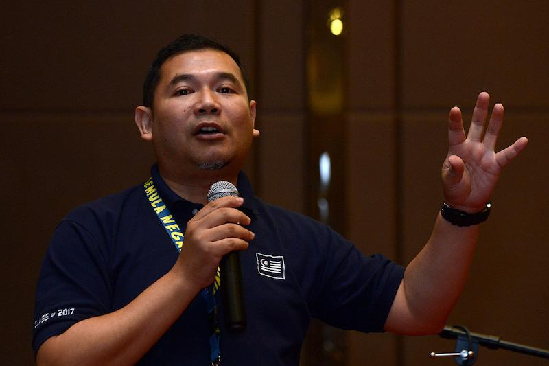 Abdul Rahman filed the suit against Rafizi (pic) for claiming during a press conference last year that he had awarded a contract to his 'brother' — one Raslan Dahlan — for the Ekspo Negaraku 2017 Exhibition. — Picture by Mukhriz Hazim