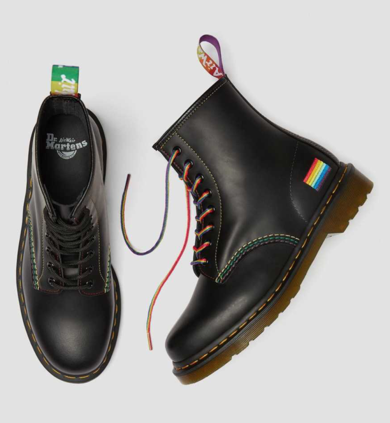 Dr. Marten's 1460 Pride Smooth Leather Lace Up Boots