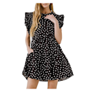 """Polka dots ~always~ get the job done. This dotted mini dress features short flutter sleeves, and we can't get enough of the convenient pocket (!) detail. $80, Amazon. <a href=""""https://www.amazon.com/English-Factory-Womens-Print-Dress/dp/B099W8TCST"""" rel=""""nofollow noopener"""" target=""""_blank"""" data-ylk=""""slk:Get it now!"""" class=""""link rapid-noclick-resp"""">Get it now!</a>"""