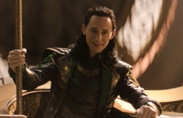 Loki wearing worn clothing that has scuffs and dirt all over it