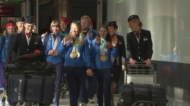 Britain's triumphant Paralympians returned home today after enjoying their most successful winter games ever. Leading the way was teenager Menna Fitzpatrick, the para-skier who won four medals including Britain's only gold.