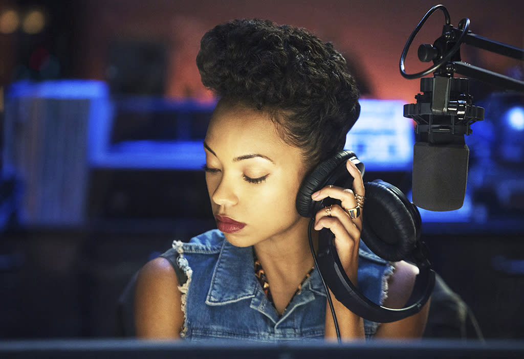 <p>Logan Browning as Samantha White in Netflix's <i>Dear White People</i>.<br /><br />(Photo: Netflix) </p>