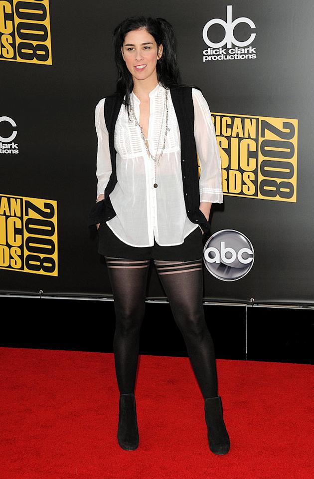 "Hopefully Sarah Silverman isn't paying a stylist to dress her in such unsightly ensembles. Devan/<a href=""http://www.infdaily.com"" target=""new"">INFDaily.com</a> - November 23, 2008"