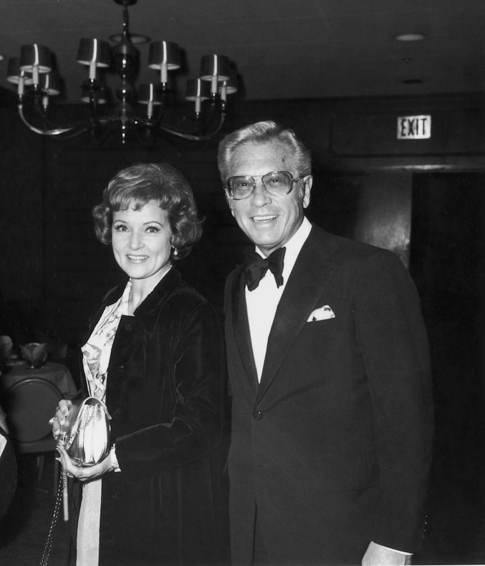 """<p>In 1974, White and Ludden appeared together at an International Broadcasting Awards dinner paying tribute to Moore. In 1981, Ludden would pass away after a battle with stomach cancer. White never remarried, and <a href=""""https://www.nydailynews.com/entertainment/gossip/betty-white-charlie-sheen-lindsay-lohan-ungrateful-actors-abuse-fame-article-1.111942"""" rel=""""nofollow noopener"""" target=""""_blank"""" data-ylk=""""slk:once said"""" class=""""link rapid-noclick-resp"""">once said</a>, """"Once you've had the best, who needs the rest?""""<br></p>"""