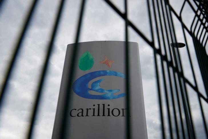 FILE PHOTO: A Carillion sign in Manchester