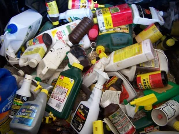 Alberta municipalities have received subsidies to help collect, transport and dispose of hazardous household waste like cleaners, paint and antifreeze. (MMSB - image credit)