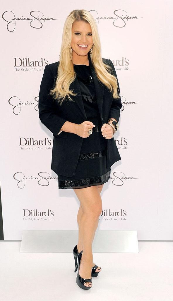 """While you might not think of 31-year-old Jessica Simpson as the most stylish woman, chances are you or one of your friends have sported something with her name on the label. The Jessica Simpson Collection, which is sold at Macy's at more affordable prices than upscale lines from celebs like Victoria Beckham, banked more than $750 million in 2010. Those """"Fashion Star"""" contestants really should listen to her advice!"""