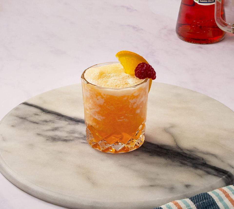 """<p>Forget frosé (ok, we still love this, too) - Frozerol is about to become your new obsession. This Aperol Spritz slushie is the perfect adult summer drink. </p><p><strong>Recipe: <a href=""""https://www.goodhousekeeping.com/uk/food/recipes/a27253251/frozerol/"""" rel=""""nofollow noopener"""" target=""""_blank"""" data-ylk=""""slk:Frozerol"""" class=""""link rapid-noclick-resp"""">Frozerol </a></strong></p>"""