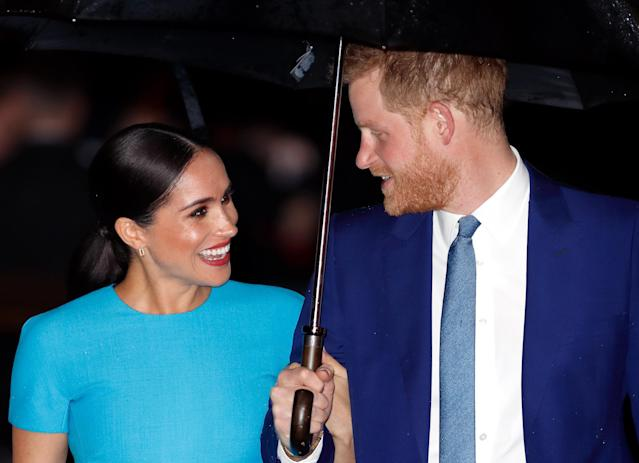 Harry and Meghan decided to step back from senior royal duties. (Getty Images)