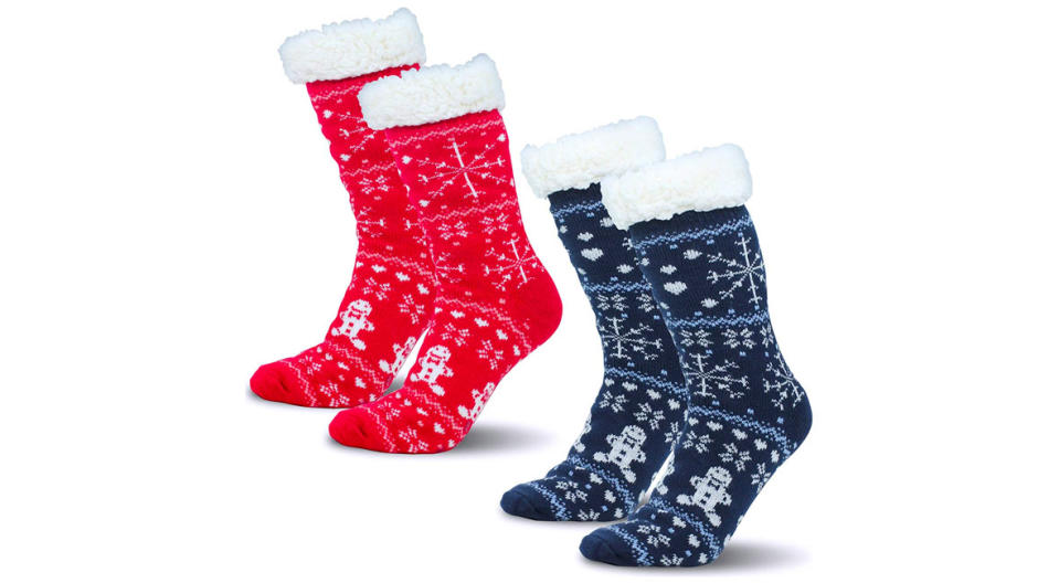 Camlinbo Christmas Fuzzy Socks (Photo: Amazon)